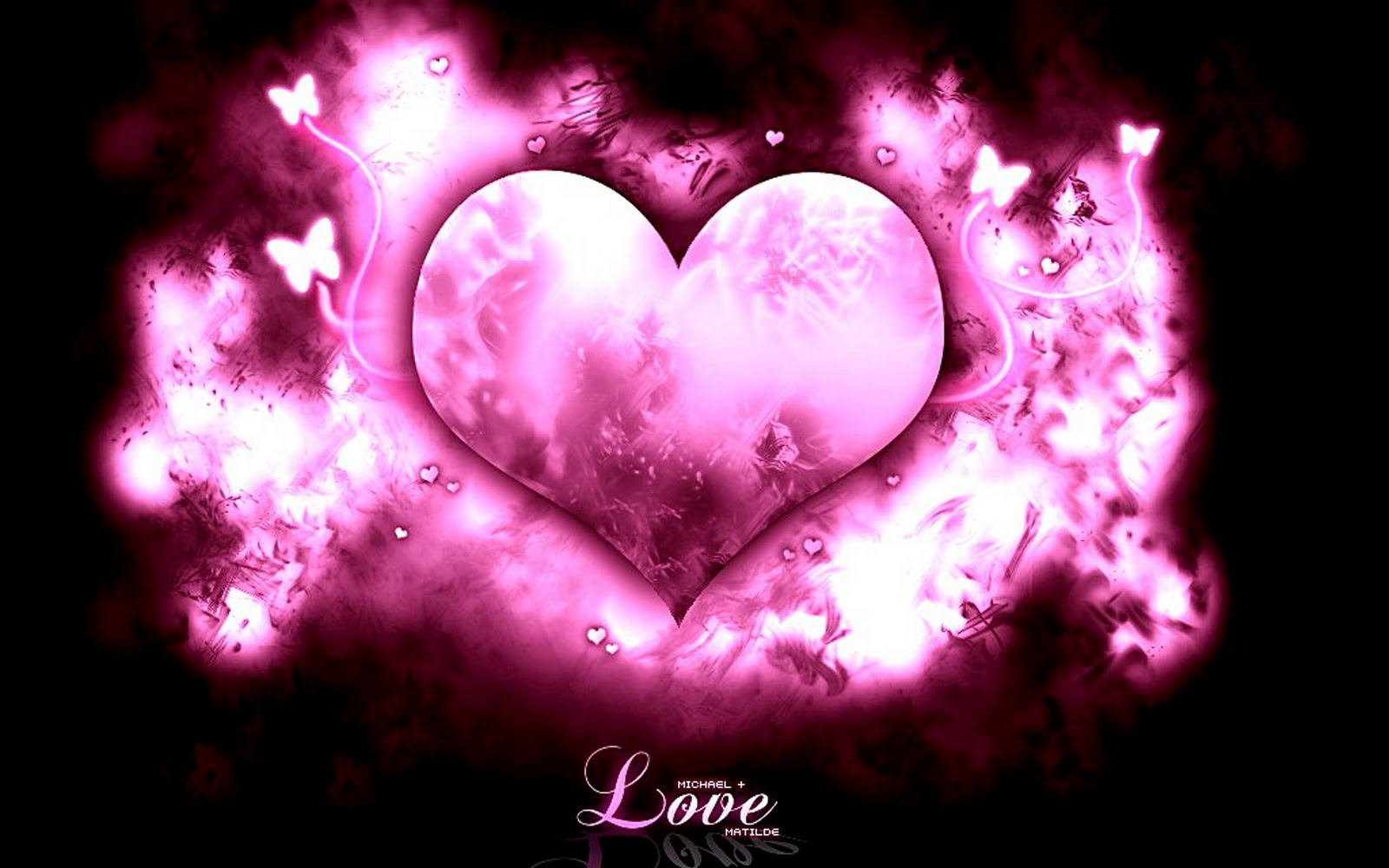 Pink Love Heart wallpaper