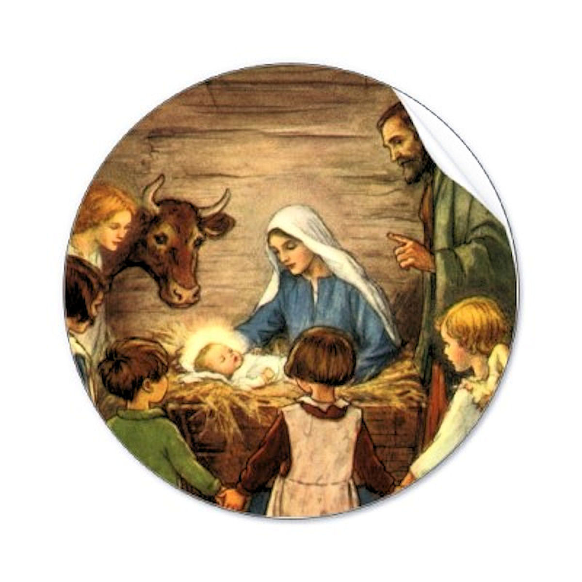 Clip art for the Holy Family. For the Bucket I used a 6 inch circle ...