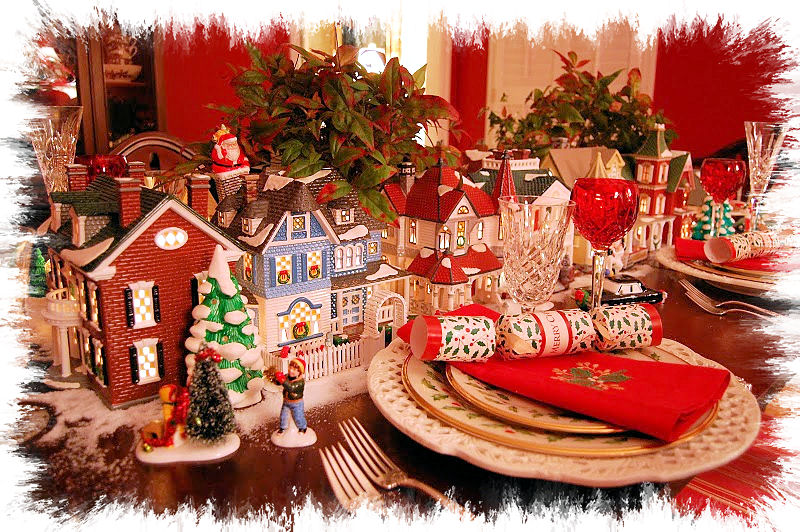 Shannon 39 s shanonigins christmas tablescapes tablesettings - Interesting tables capes for christmas providing cozy gathering space ...