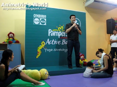 Pampers Brand Manager Chad Sotelo at the Pampers Yoga Stretchycise Launch