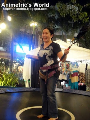 Strapped in at Bungee Fun in Eastwood City