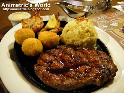 Ranch Steak and Prawn at Holy Cow Steak Ranch and American Grill