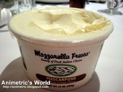 Mascarpone Cheese at M Cafe