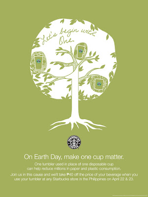 Starbucks Earth Day 2010