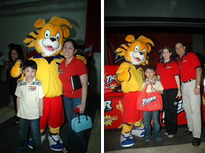 My son and I with Tigo, Ms. Jackie Lou Blanco, and Mr. Elio Machillanda