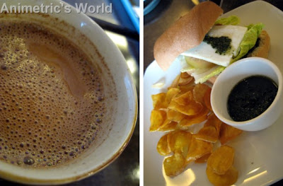 Hot Chocolate and Kesong Puti with Pesto