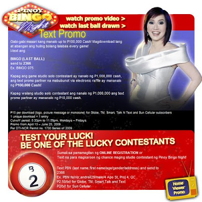 Kris Aquino on ABS-CBN's Pinoy Bingo Night