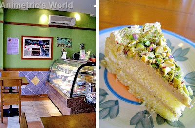 Lia's Cakes in Season and a slice of Avocado Cake