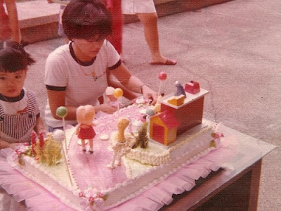 My 3rd birthday party with a Sesame Street Goldilocks cake