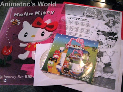 Hello Kitty Online HKO Philippines press materials, installer disc, and Founders Beta Pass