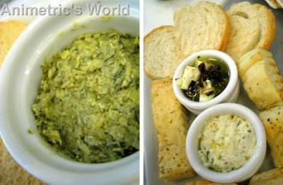 Artichoke and Spinach Dip and Cheese Sampler at Goodies n' Sweets