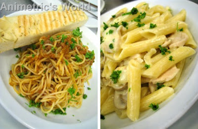 Chorizo & Garlic Pasta and Chicken & Mushroom Pasta at Goodies n' Sweets