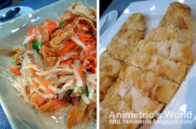 Papaya, Carrots, and Fried Fish Salad and Crispy Cream Dory Fillet by Chef Tess Sutilo of Nestle Philippines