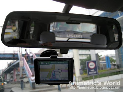 Garmin 255 GPS unit mounted on my windshield