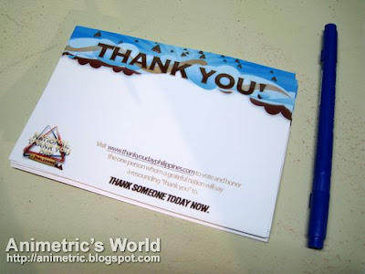A Toblerone Thank You postcard at Toblerone's Thank You Day Philippines Launch