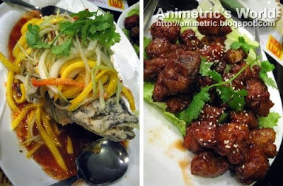 Lapu-Lapu with Mango Sauce and Singaporean Spare Ribs at Tao Yuan Restaurant