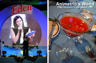 Kraft Eden cheese event host Chynna Ortaleza and an Andalucia cocktail