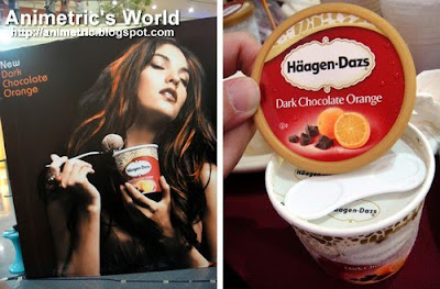 Haagen Dazs Dark Chocolate Orange ice cream