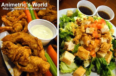 Buffalo Platter and Hooters Cobb Salad at Hooters Manila Bay