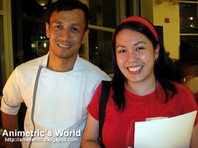 Photo op with Chef Sau Del Rosario