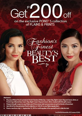 Get P200 off Pond's + Plains & Prints
