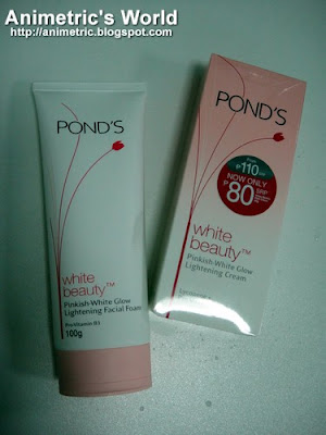 Pond's White Beauty Lightening Facial Foam and Cream