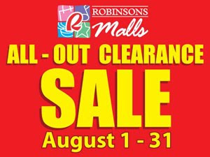 Robinsons Malls All-Out Clearance Sale