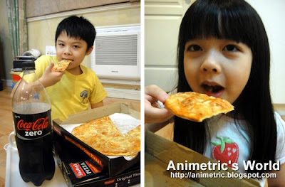 Enjoy pizza with Coke!
