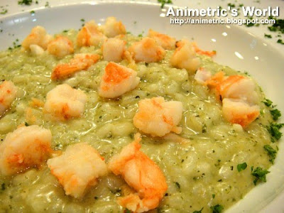 Il Risotto al Pesto con Scampi at La Piadina, Glorietta 4