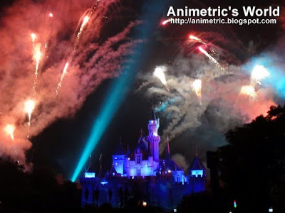 Fireworks display at Hong Kong Disneyland