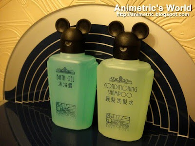 Bath gel and conditioning shampoo at Hong Kong Disney Hollywood Hotel
