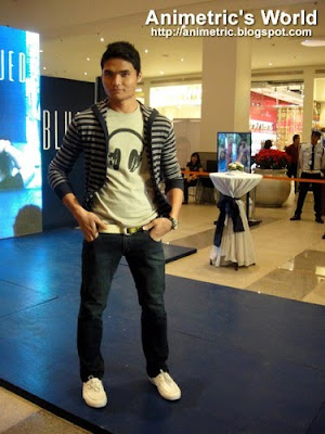 Student model at Blued Fashion Show