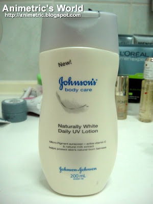 Johnson's Body Care Naturally White Daily UV Lotion