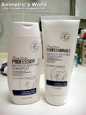 Fanny Serrano Professionals Protect / Anti-Frizz Shampoo and Conditioner for dry, frizzy, and damaged hair