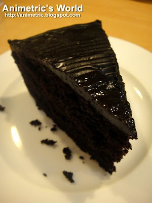 Chocolate Cake at Greens Vegetarian Restaurant and Cafe