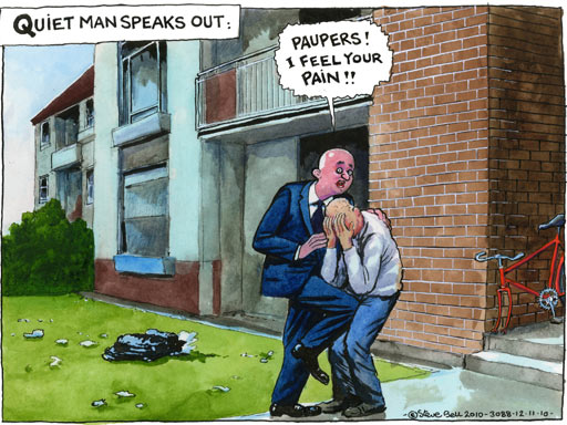 ian bell shoes. Cartoonist Steve Bell on