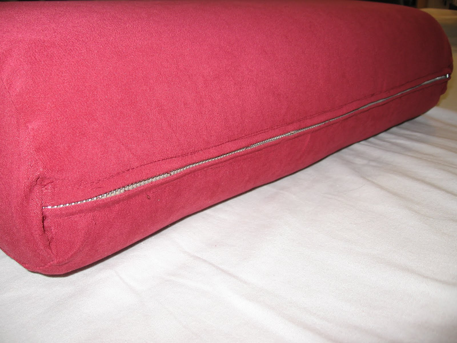 Comin39 home how to re cover couch cushions includes the for How to cover sofa cushion without sewing