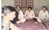 नरेला में आयोजित काव्य-गोष्ठी में कविता-पाठ