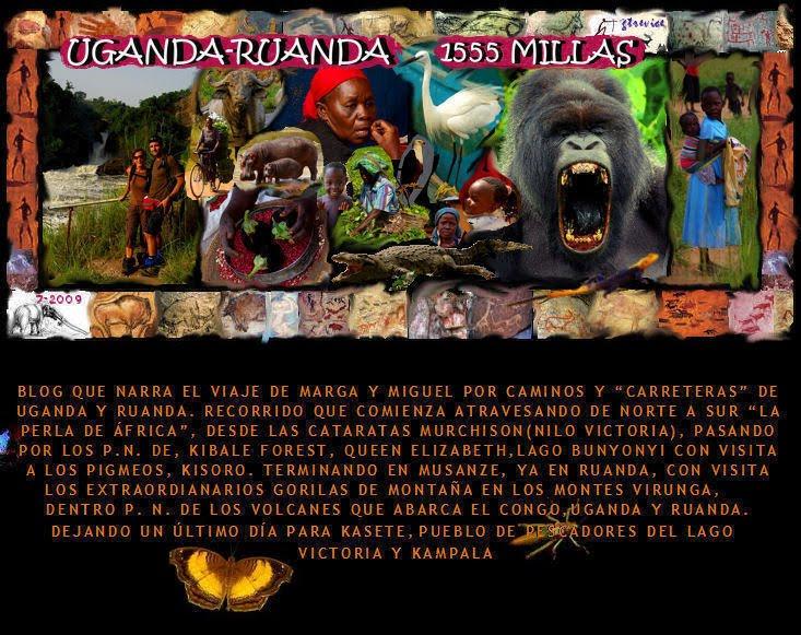 UGANDA-RUANDA 1555 MILLAS