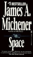 Cover image of the novel titled Space by James A Michener