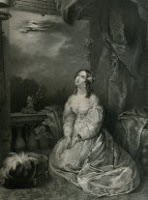 Illustration of Juliet, lover of protagonist in the story titled Transformation by Mary Wollstonecraft Shelley. Illustration is painted by Miss Sherpa. Click image for full sized original.