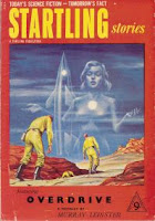 Cover image of the New Zealand edition of the magazine Startling Stories, number 14.