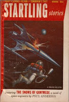 Cover image of Startling Storiesmagazine, Winter 1955 issue