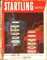 Cover image by EMSH of Startling Storiesmagazine, April 1953 issue