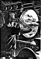 Illustration accompanying the HTML version at Project Gutenberg of the story The Anglers of Arz by Roger Dee