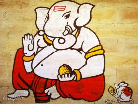 A sketch of Ganapathi, also called Ganesh ji