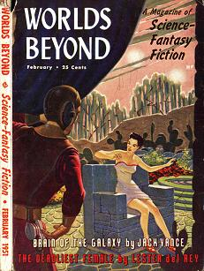 Cover by Van Dongen of Worlds Beyond magazine, February 1951 issue