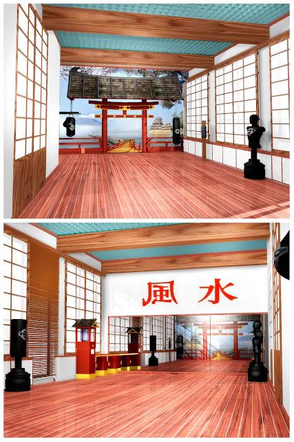 Дизайн зала восточных единоборств фитнесс-центр