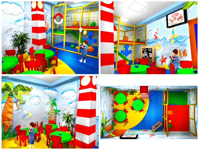 Дизайн детской комнаты фаст-фуда Мак Пик,Екатеринбург