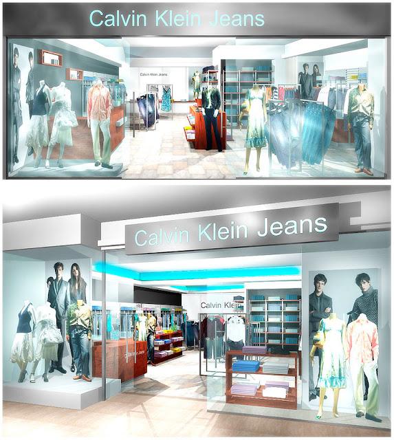 дизайн входной группы бутика,Calvin Klein в ТЦ, г.Иркутск